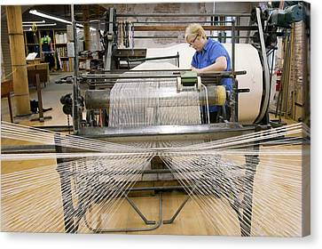 Textile Mill Warping Creel Canvas Print by Jim West