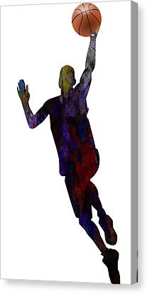 The Basket Player Canvas Print by Adam Asar