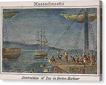 The Boston Tea Party, 1773 Canvas Print by Granger