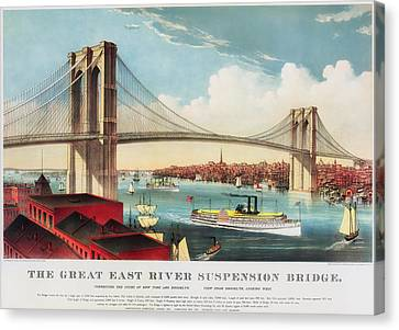 The Brooklyn Bridge Canvas Print by Mountain Dreams