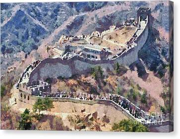 Eastern Canvas Print - The Great Wall In China by George Atsametakis