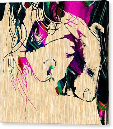 The Joker Heath Ledger Collection Canvas Print by Marvin Blaine