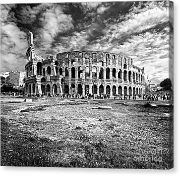 The Majestic Coliseum - Rome Canvas Print by Luciano Mortula