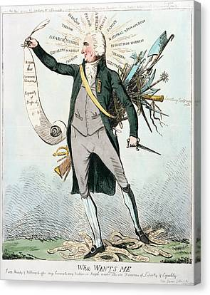 Thomas Paine (1737-1809) Canvas Print by Granger