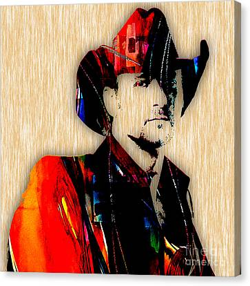 Tim Mcgraw Collection Canvas Print by Marvin Blaine
