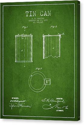 Container Canvas Print - Tin Can Patent Drawing From 1878 by Aged Pixel