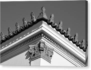 Architecture Canvas Print - Traditional Architecture In Plaka by George Atsametakis