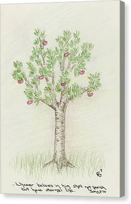 4 Trees-4th Tree Summer Canvas Print