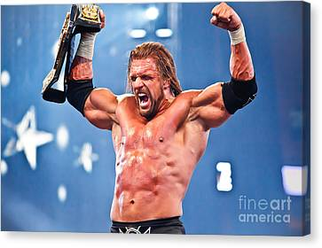 Triple H Canvas Print by Wrestling Photos