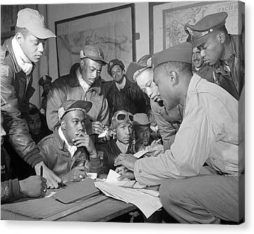 Tuskegee Airmen Canvas Print by Retro Images Archive