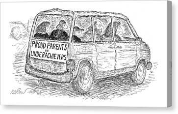 Proud Parents Of Underachievers Canvas Print