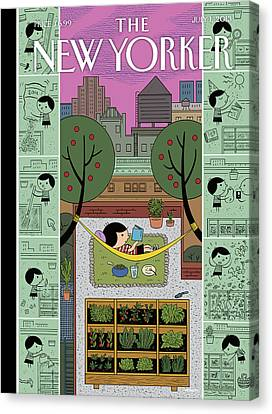 New Yorker July 1st, 2013 Canvas Print by Ivan Brunetti