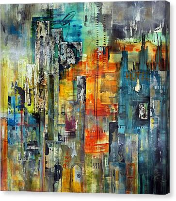 Urban View Canvas Print by Katie Black