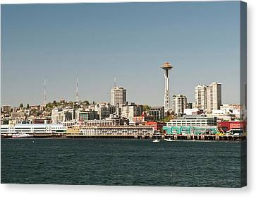 Usa, Wa, Seattle Canvas Print by Trish Drury