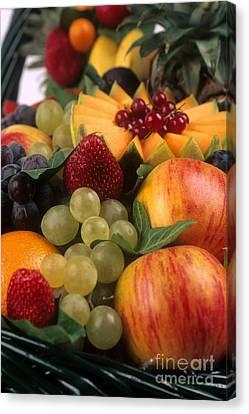 Variety Of Fruits. Canvas Print by Bernard Jaubert