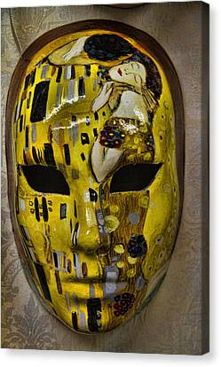 Hand Crafted Canvas Print - Venetian Carnaval Mask by David Smith