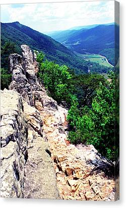 View From Atop Seneca Rocks Canvas Print by Thomas R Fletcher
