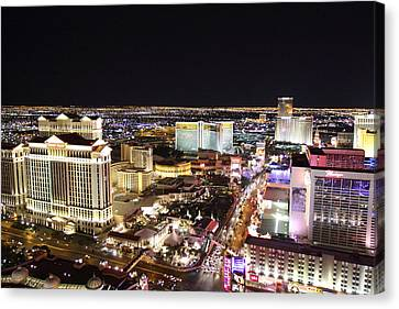 View From Eiffel Tower In Las Vegas - 01132 Canvas Print by DC Photographer
