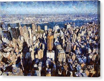 View Of Manhattan From Empire State Building Canvas Print