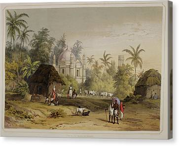 Sir Charles Canvas Print - Views Of Calcutta And Its Environs by British Library
