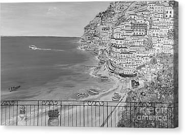 Vista Su Positano Canvas Print by Loredana Messina