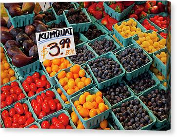 Wa, Seattle, Pike Place Market Canvas Print by Jamie and Judy Wild