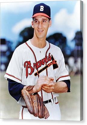 Warren Spahn Canvas Print by Retro Images Archive