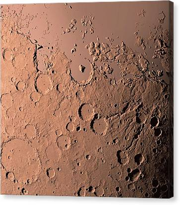 Water On Mars Canvas Print by Detlev Van Ravenswaay