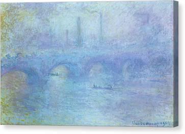 Waterloo Bridge Canvas Print by Claude Monet