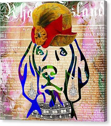 Weimaraner Canvas Print - Weimaraner by Marvin Blaine