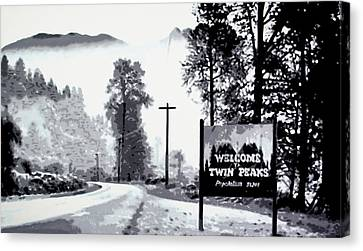 Welcome To Twin Peaks Canvas Print by Luis Ludzska