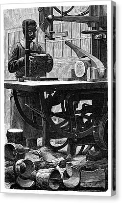 Wheel Manufacturing Canvas Print by Science Photo Library