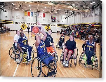 Wheelchair Basketball Canvas Print by Jim West