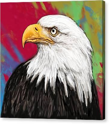 Wild Animal Stylised Pop Art Drawing Potrait Poser Canvas Print