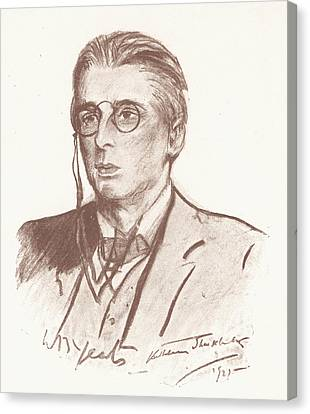 William Butler Yeats (1865-1939) Canvas Print by Granger
