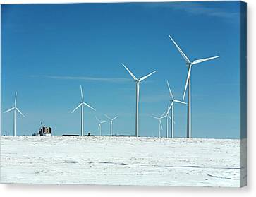 Wind Farm Canvas Print by Jim West