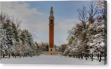 Winter At The Carillon Canvas Print