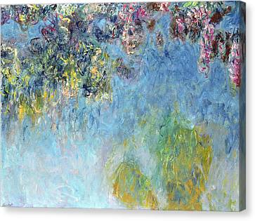 Wisteria In Bloom Canvas Print - Wisteria by Claude Monet