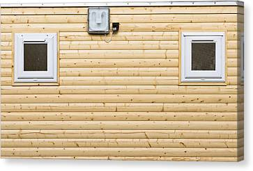 Wooden Wall Canvas Print by Tom Gowanlock