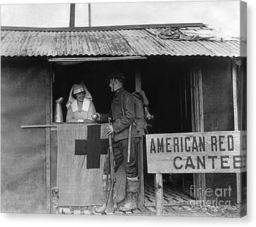 Hot Nurses Canvas Print - World War I: Red Cross by Granger