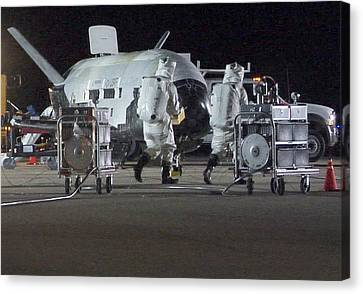 X-37b Orbital Test Vehicle, Post-landing Canvas Print