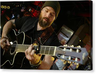 Zac Brown Band Canvas Print by Don Olea