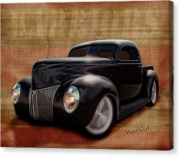 40 Ford Pickup Warriors Canvas Print by Chas Sinklier