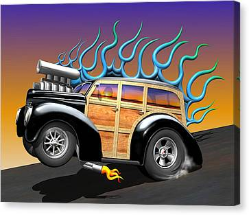 '40 Ford Woody Canvas Print