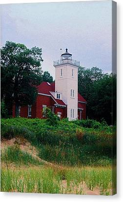 Canvas Print featuring the photograph 40 Mile Light by Daniel Thompson