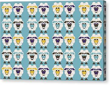 40 Sleep Sheep Canvas Print by Asbjorn Lonvig