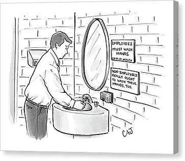 New Yorker July 31st, 2006 Canvas Print by Carolita Johnson