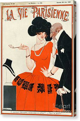 Magazine Canvas Print - 1920s France La Vie Parisienne Magazine by The Advertising Archives