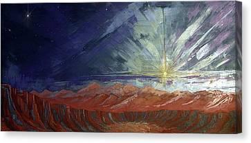 Cosmic Light Series Canvas Print by Len Sodenkamp