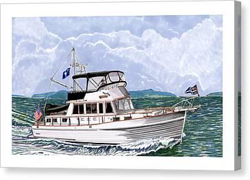 42 Foot Grand Banks Motoryacht Canvas Print by Jack Pumphrey